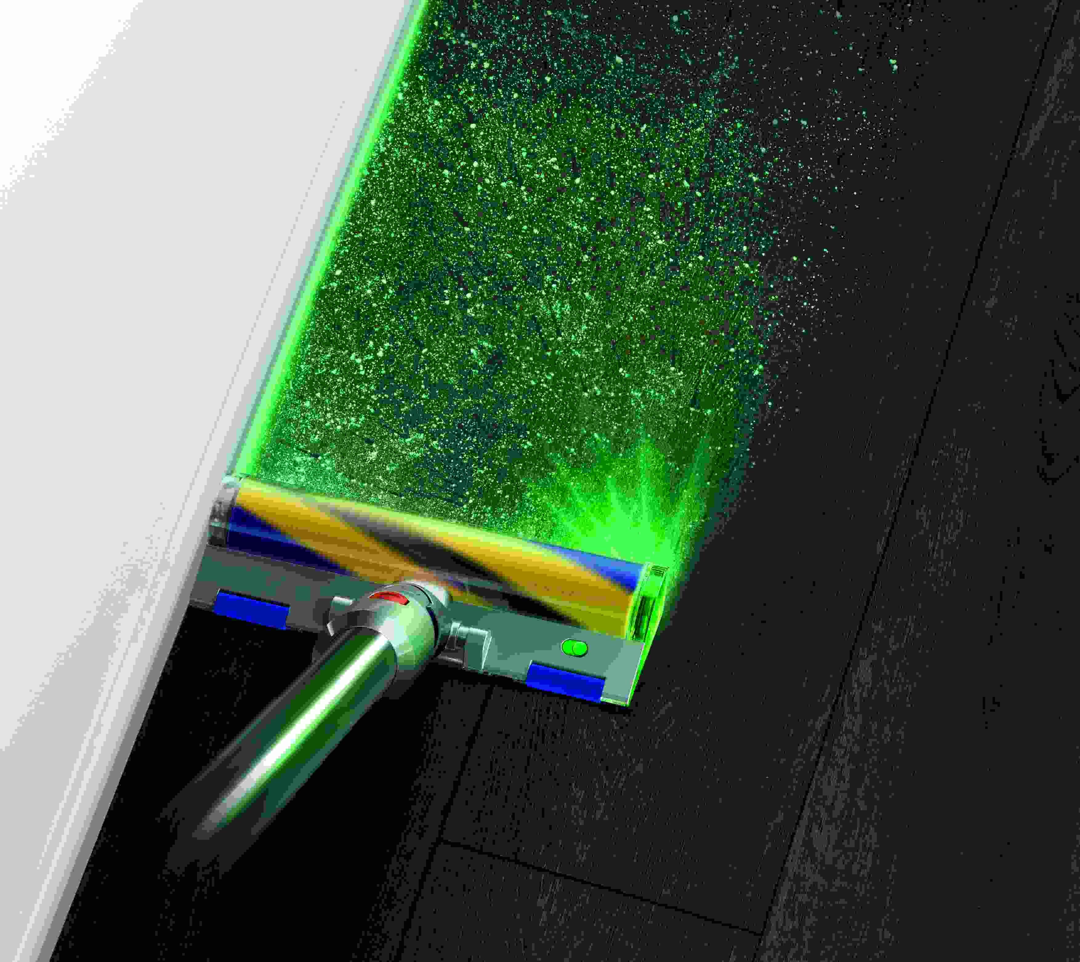 DysonV15Detect groen laser met sof