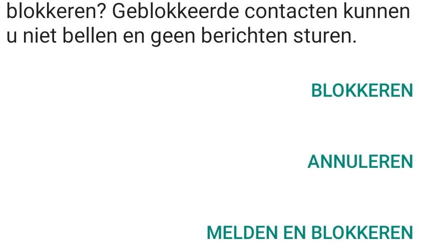 Iemand blokkeren uitsnede android