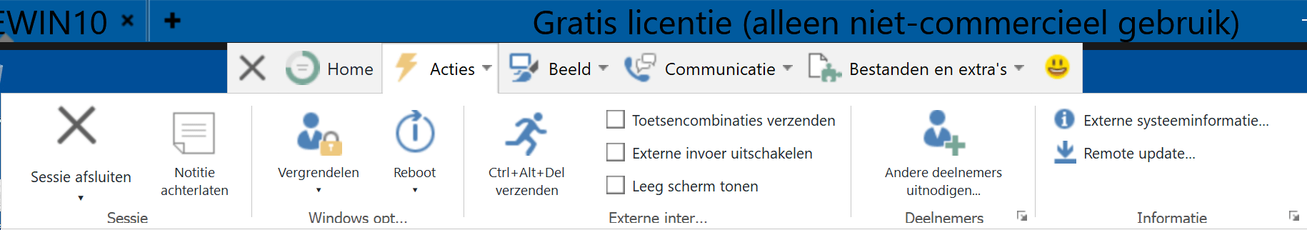 teamviewer optiebalk sel