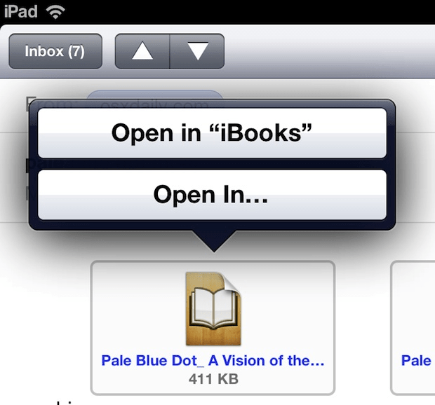open epub ipad