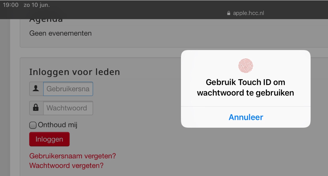 8 ios 12 wachtwoord inloggen via touch ID