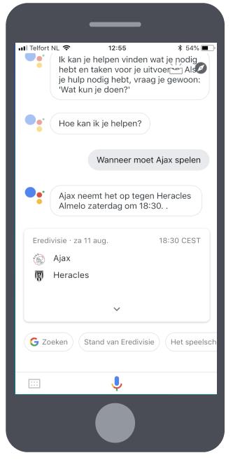 Google Assistent staand 6