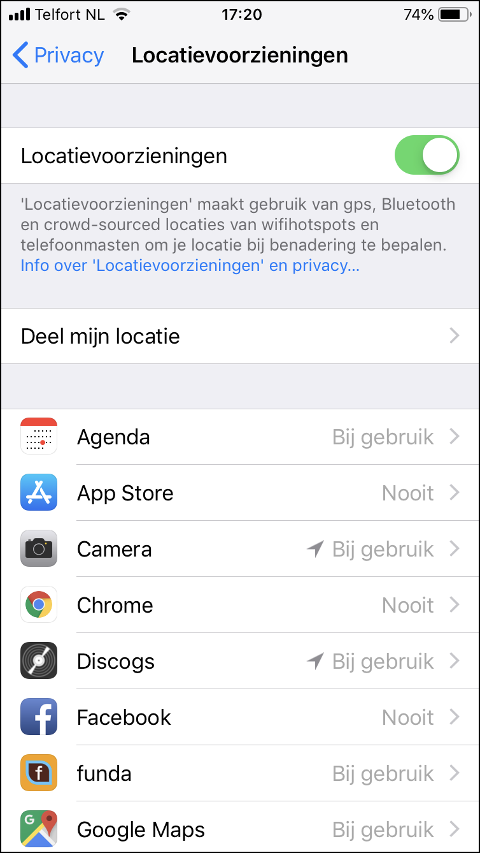 2 App machtigingen 2