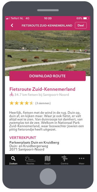 Natuur routes staand camera