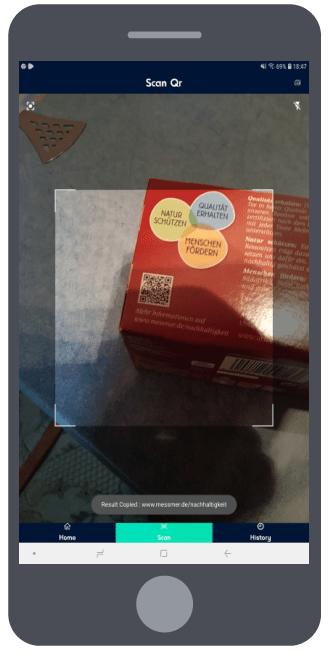 QR Code Generator Scanner staand 2 camera