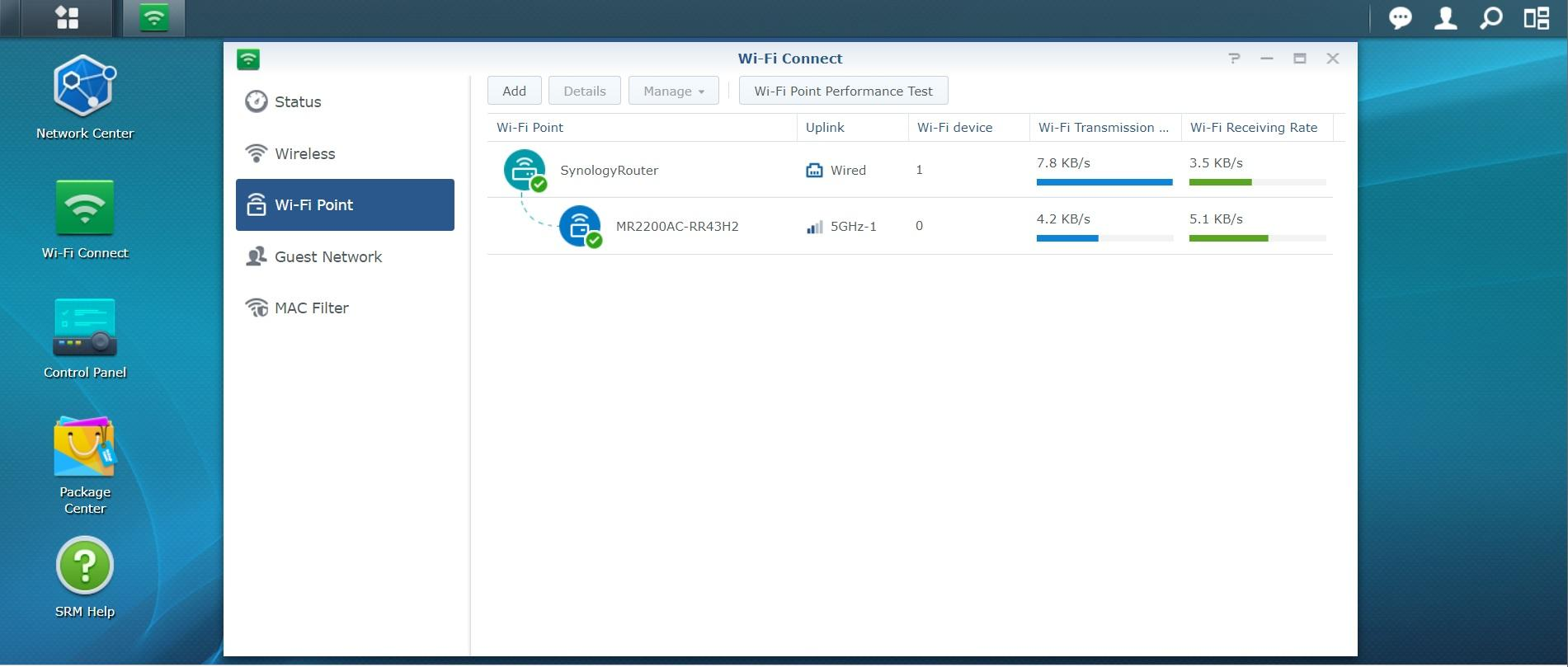 Screenshot Synology SRM