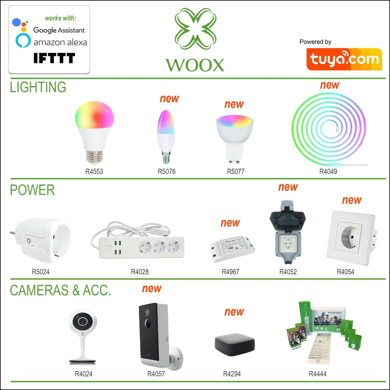 Woox product overzicht H12019 2