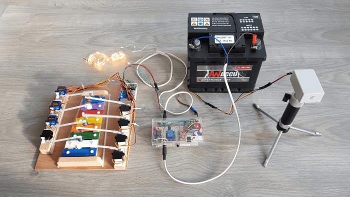1. Overzicht met xylofoon ledjes controle unit accu en bewegingssensor 20191029 151146xx