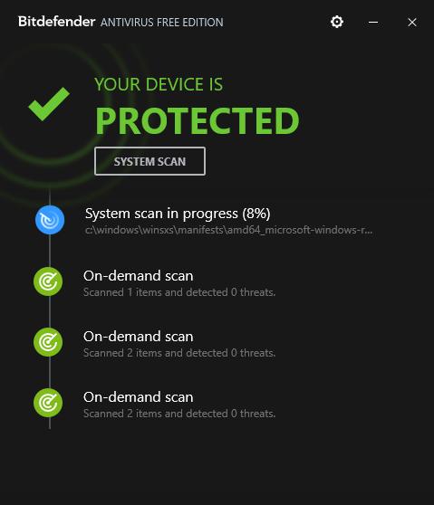 3 Bitdefender Antivirus Free Edition