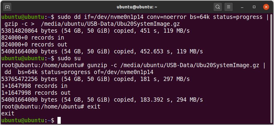 LinuxImageBackup dd 2