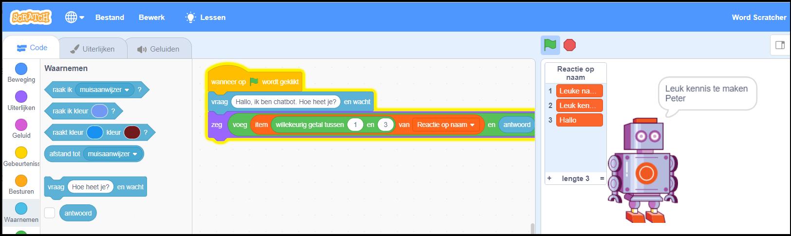Scratch Chatbot afbeelding 6a