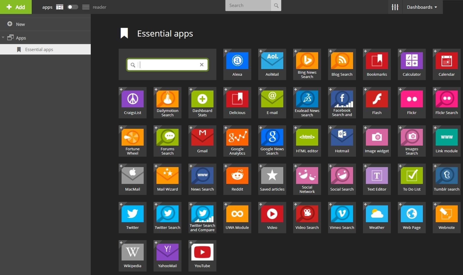 netvibes EssentialApps