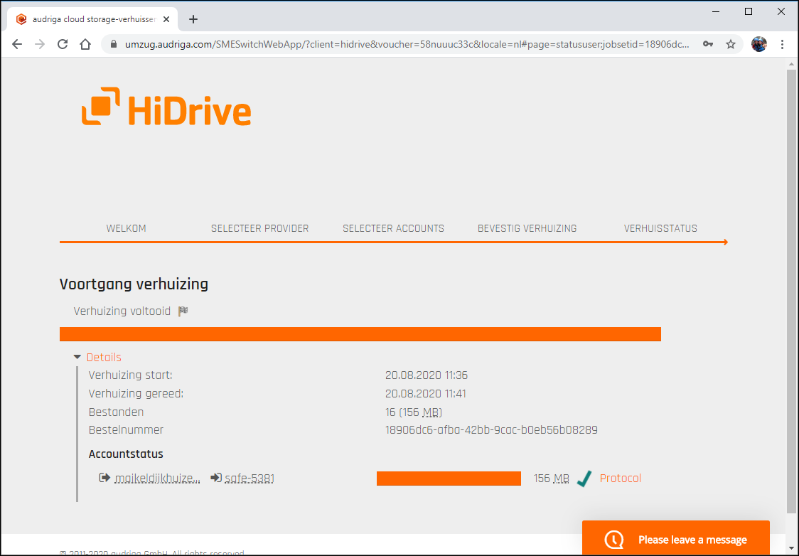 3 Overstappen STRATO HiDrive 2