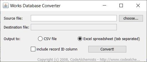 Works Database Convertor