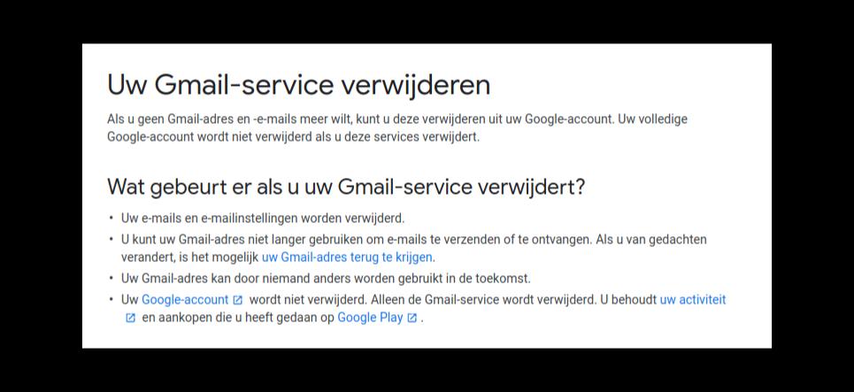 gmail verwijderen 1 2