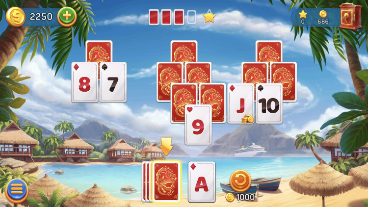 Solitaire Cruise Tripeaks Card 2