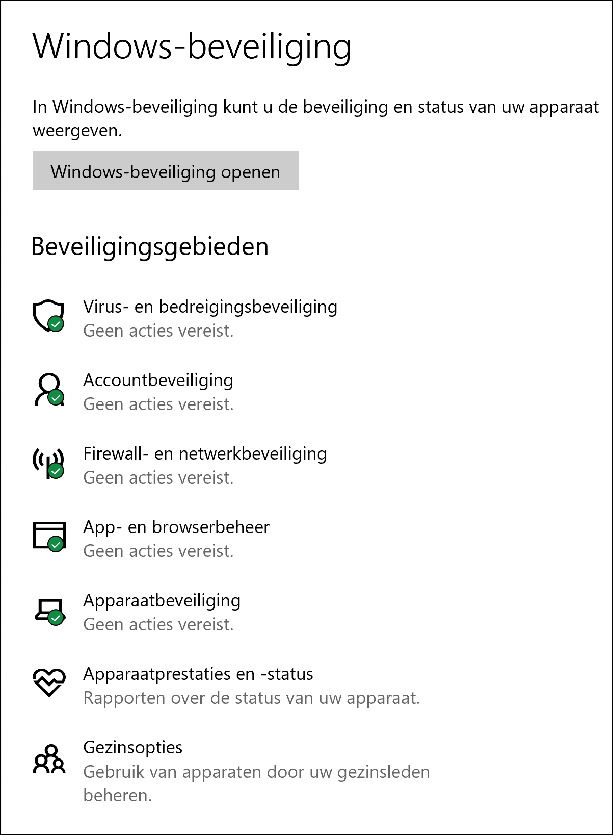 Windows tabel