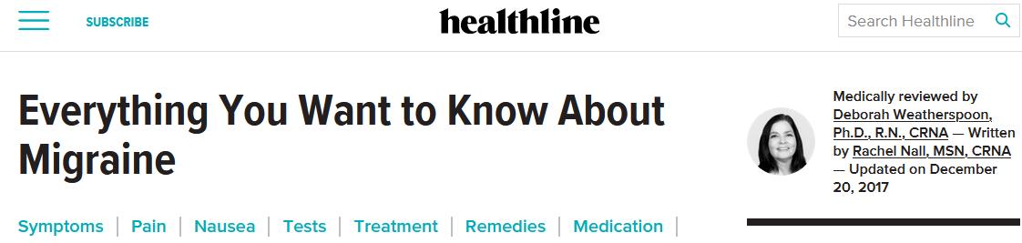 SEOtips afbeelding Healthline in tekst