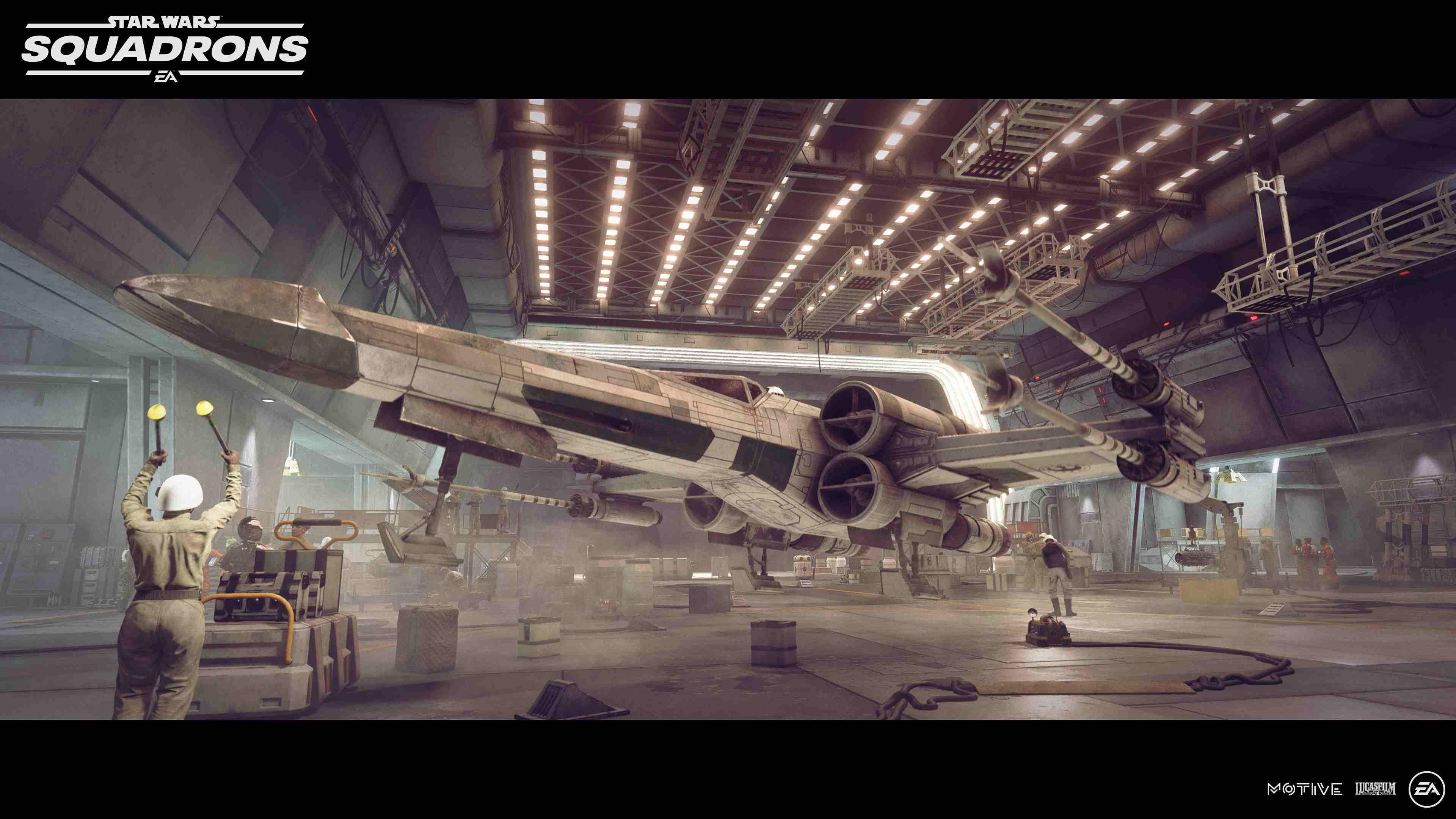 Starwars SCREENS GAME XWING HANGAR in artikel