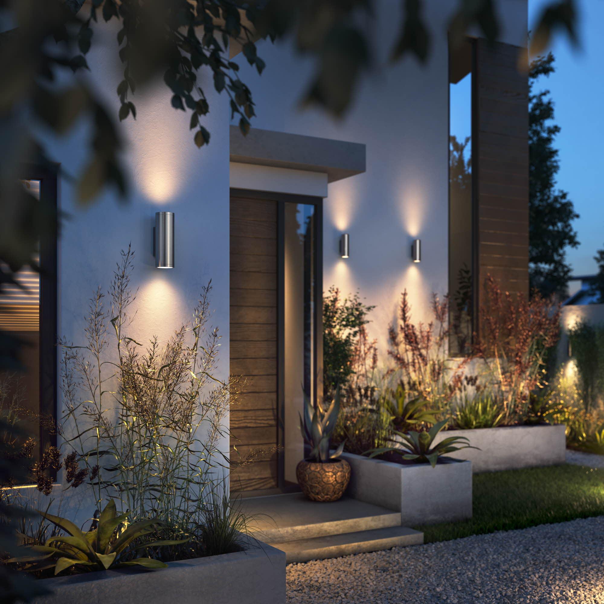 appear inox facade frontyard warm white
