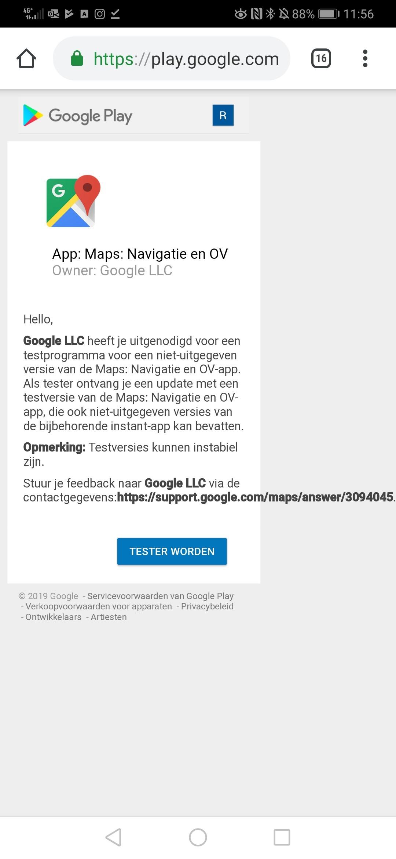 Tester worden maps 1