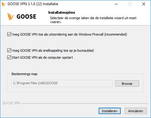 goose installatie