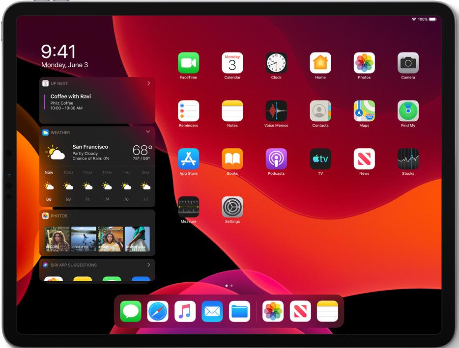 iPadOS beginscherm