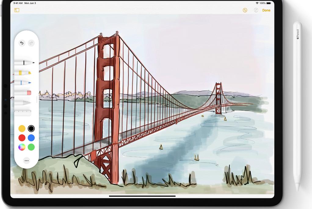iPadOS tools en pencil