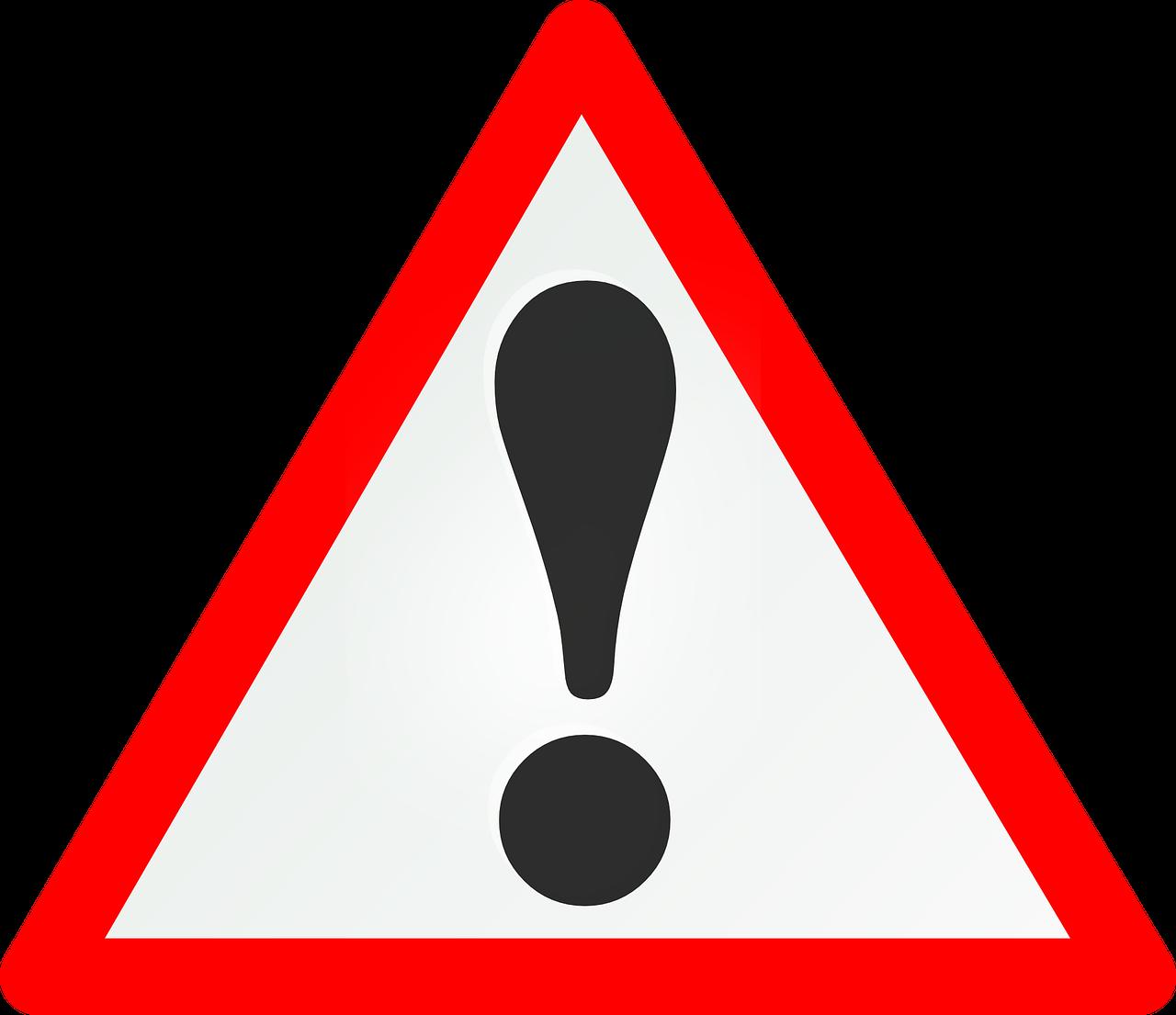 verkeersbord met uitroepteken