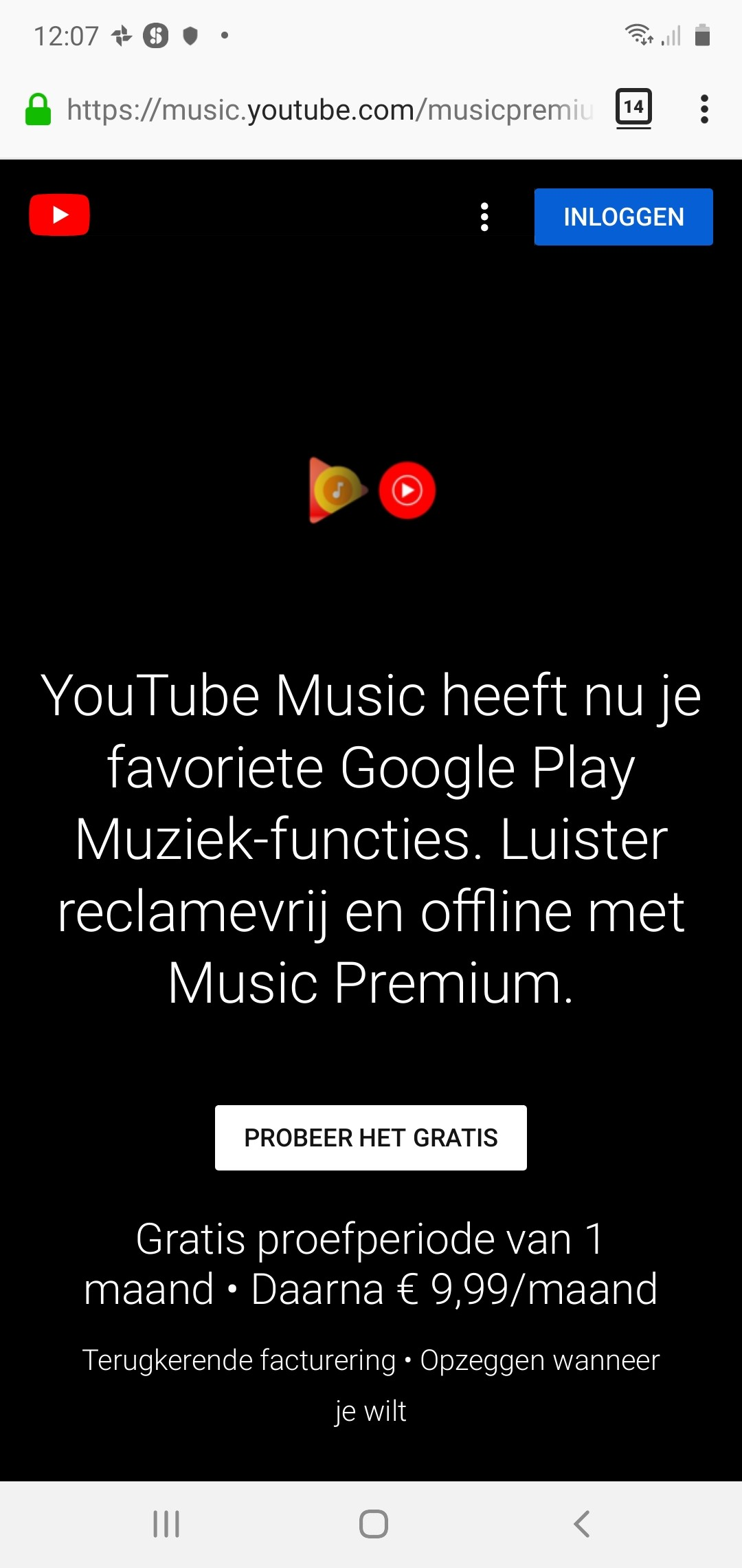youtube music nl